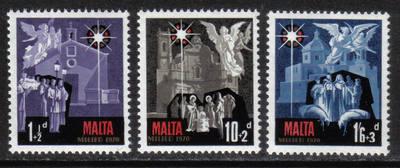 Malta Stamps SG 0444-46 1970 Christmas - MINT