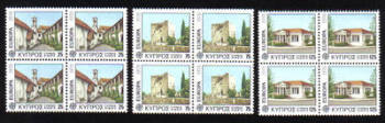 Cyprus Stamps SG 502-04 1978 Europa Architecture -  Block of 4 MINT