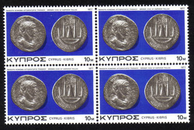 Cyprus Stamps SG 486 1977 10 Mils - Block of 4 MINT