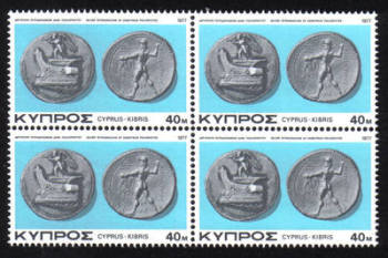 Cyprus Stamps SG 487 1977 40 mils - Block of 4 MINT