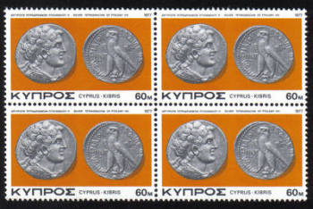 Cyprus Stamps SG 488 1977 60 mils - Block of 4 MINT