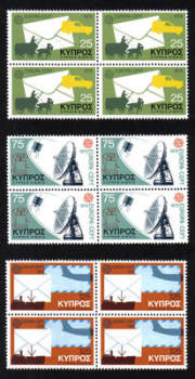 Cyprus Stamps SG 520-22 1979 Europa communications - Block of 4 MINT