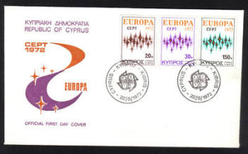 Cyprus Stamps SG 387-89 1972 Europa Communications - Official FDC