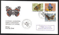 Cyprus Stamps SG 604-06 1983 Butterflies Marked Complimentary - Official FDC (h622)