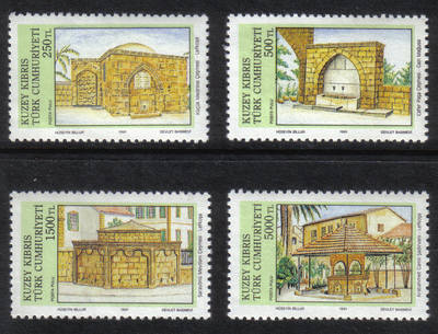 North Cyprus Stamps SG 307-10 1991 Fountains - MINT