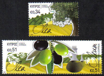 Cyprus Stamps SG 2014 (a) The Olive tree and its products - MINT