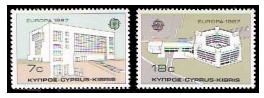 Cypru stamps 1987 Europa - Modern Architecture