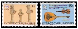 Cyprus stamps 1985 Europa - Composers and Musicians