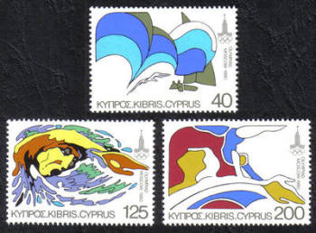 Cyprus Stamps SG 542-44 1980 Moscow Olympic Games - MINT