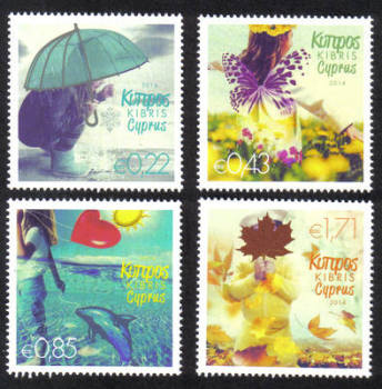 Cyprus Stamps SG 1315-18 2014 The Four Seasons of the Year - MINT