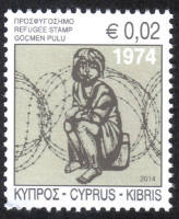 Cyprus Stamps 2014 Refugee Fund Tax SG 1319 - MINT