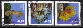 Cyprus Stamps SG 1301-03 2013 Organisms of the Mediterranean marine environment - USED (h751)