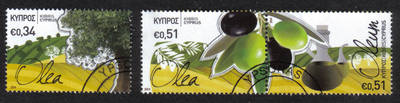 Cyprus Stamps SG 2014 (a) The Olive tree and its products - USED (h754)