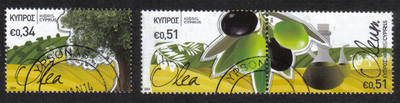Cyprus Stamps SG 2014 (a) The Olive tree and its products - USED (h752)