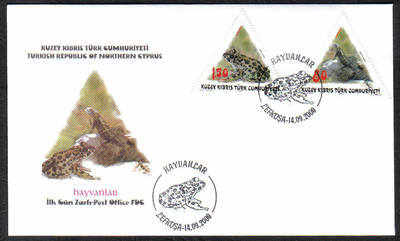 North Cyprus Stamps SG 695-96 2009 Animals Fauna - Official FDC
