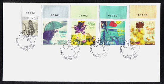 "Cyprus 2014 unofficial FDC ""The Four Seasons"""