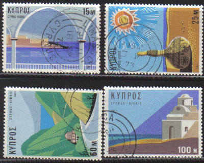 Cyprus Stamps SG 378-81 1971 Tourism - USED (d251)