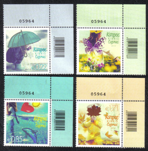 Cyprus Stamps SG 2014 (b) The four seasons of the year - Control numbers MI