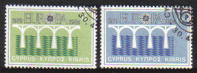 Cyprus Stamps SG 632-33 1984 Europa bridge - USED  (c163)
