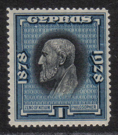 Cyprus Stamps SG 124 1928 1 Piastrie 50th Anniversary of British rule - MIN