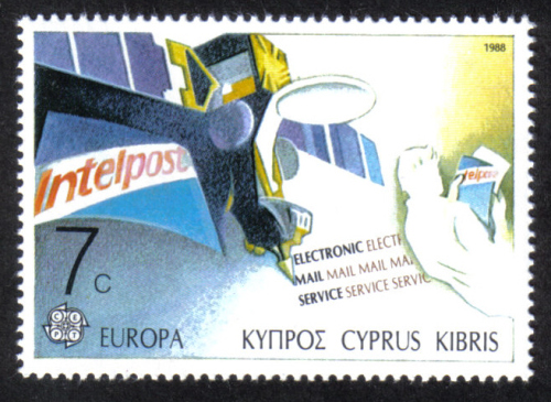 Cyprus Stamps SG 718 1988 7c  Europa Transport - MINT