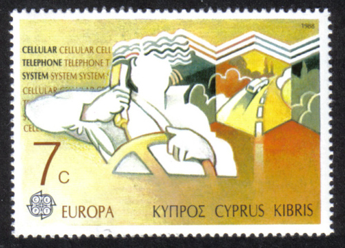 Cyprus Stamps SG 719 1988 7c  Europa Transport - MINT