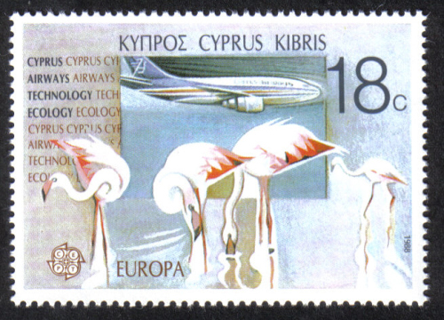 Cyprus Stamps SG 720 1988 18c  Europa Transport - MINT