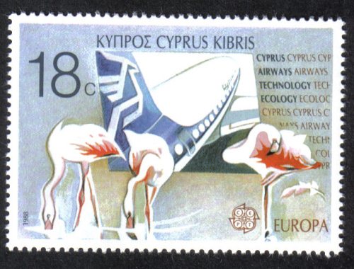 Cyprus Stamps SG 721 1988 18c  Europa Transport - MINT