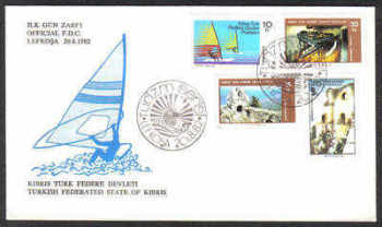 North Cyprus Stamps SG 123-26 1982 Tourism - Official FDC
