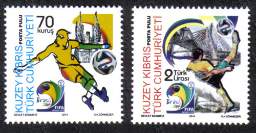 North Cyprus Stamps SG 2014 (c) FIFA Football World Cup Brazil - MINT