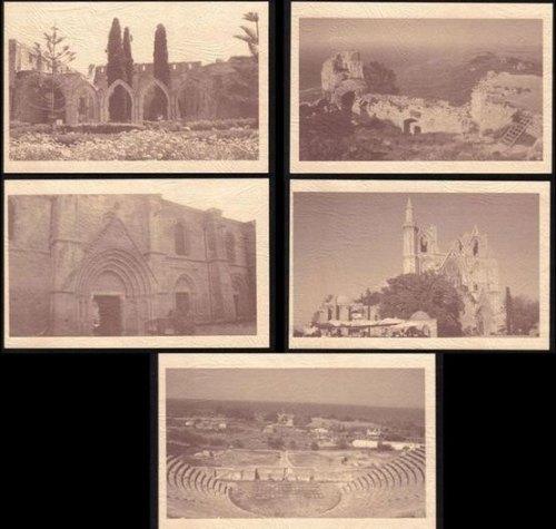 North Cyprus Stamps Pre-paid Postcard 2011 60 KURUS - Full set of 5 MINT