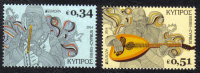 Cyprus Stamps SG 1320-1321 2014 Europa National Music Instruments - MINT