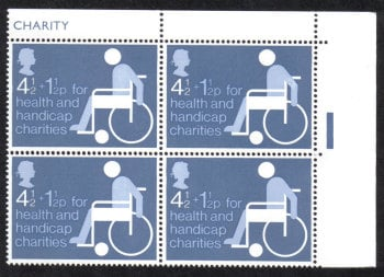 British Stamps 1974 Health and Handicap Charities - Block of 4 MINT (h792)