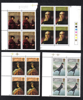 British Stamps 1973 British Painters - Block of 4 MINT (h805)