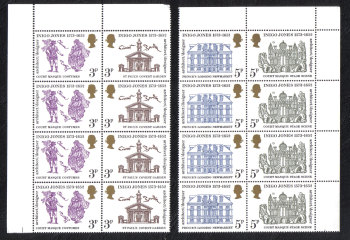 British Stamps 1973 Inigo Jones - Block of 4 MINT (h806)