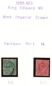 British Stamps 1902 - 1913 King Edward VII - USED (h667)