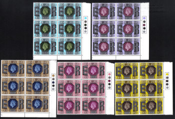 British Stamps 1977 Queens Silver Jubilee - Blocks of 6 MINT (h768)