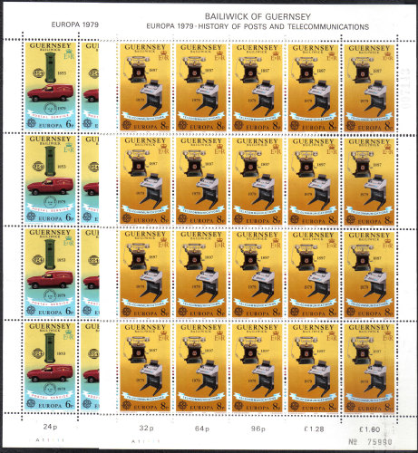 Guernsey Stamps 1979 Europa full sheets - MINT (z513)