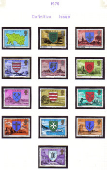 Jersey Stamps 1976 Definitives Full set - USED (z535)