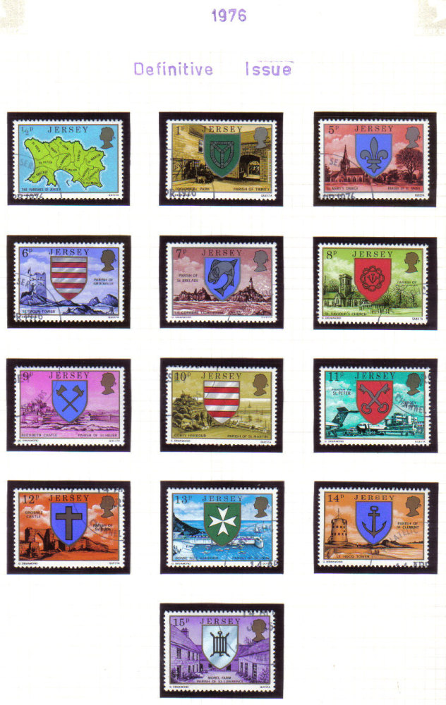 Jersey Stamps 1976 Definitives Full set - USED (z535)