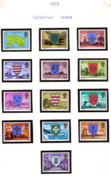 Jersey Stamps 1976 Definitives Full set - MINT (z534)