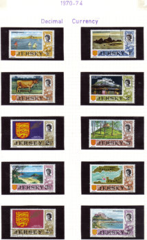 Jersey Stamps 1970-74 Decimal Currency - USED (z533)
