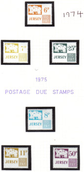 Jersey Stamps 1974-75  Post Due - MINT (z540)