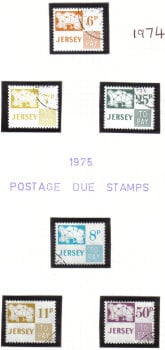 Jersey Stamps 1974-75  Post Due - CTO USED (z539)