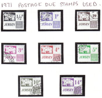 Jersey Stamps 1971 Postage Due - CTO USED (z538)