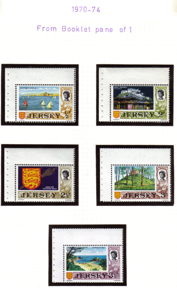 Jersey Stamps 1970-74 Booklet Panes - USED and MINT (z532)