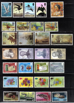 Jersey Stamps 8 Full Sets - USED (z557)