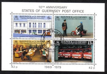 Guernsey Stamps 1979 Post Office Mini Sheet - CTO USED (z518)