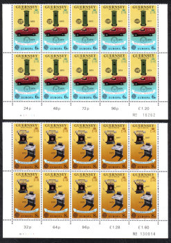 Guernsey Stamps 1979 Europa Post office - Block of 10 MINT (z514)