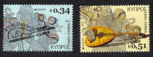 Cyprus Stamps SG 2014 (c) Europa National Music Instruments - CTO USED (h81